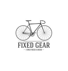 Retro vintage bicycle vector