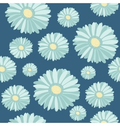 Seamless pattern with abstract hand drawn flowers vector image