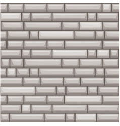 Seamless texture placing grey stone wall vector