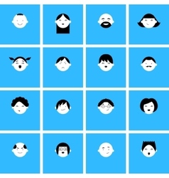 Set of faces icons for avatars vector image