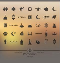 Set of ramadan icons vector