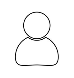 simple human icon business design isolated on vector image