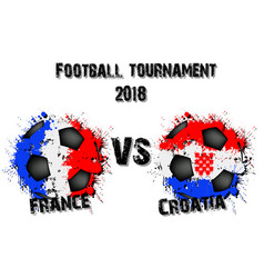 soccer game france vs croatiad vector image