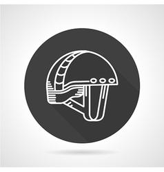 Sport helmet black round icon vector image