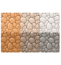 stone surface seamless patterns set vector image