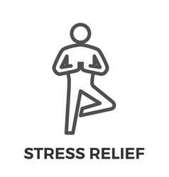 stress relief thin line icon vector image