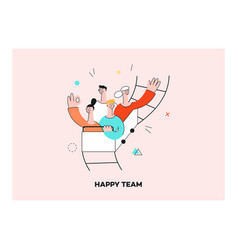Successful teambuilding roller coaster vector