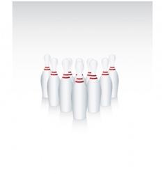 Ten bowling pins vector