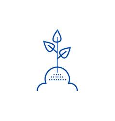 tree leaf line icon concept tree leaf flat vector image