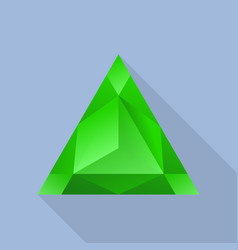 triangular emerald icon flat style vector image