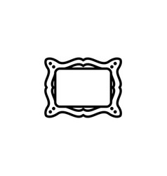 web line icon picture frame black on white vector image