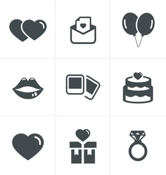 Wedding Icons Set Design vector image