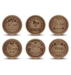 Wine barrels icons set vector