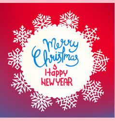winter holidays greeting card template with vector image