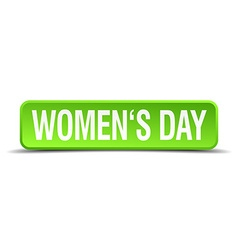 womens day green 3d realistic square isolated vector image