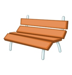 Bench icon cartoon style vector image