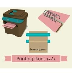 Print icons set 1 vector image vector image