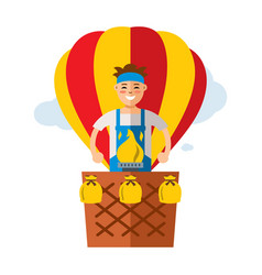 Air balloon travel flat style colorful vector