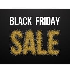 Black friday sale gold explosion poster black vector