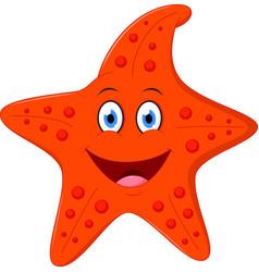 happy starfish cartoon vector image