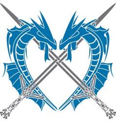 Heart of dragons vector