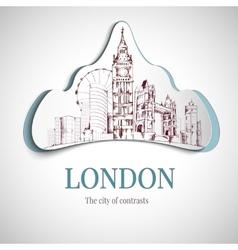 London city emblem vector image vector image