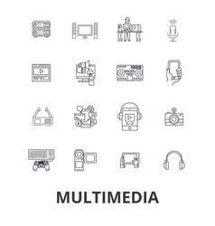 multimedia media video internet film computer vector image