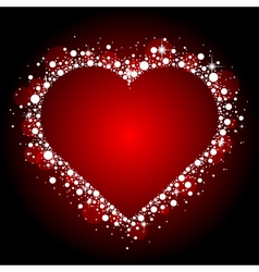 red frame with shiny heart vector image