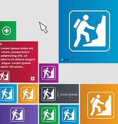 rock climbing icon sign buttons Modern interface vector image vector image
