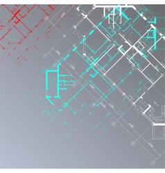 gray architectural background vector image vector image