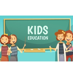 Kids Primary Education Cartoon Poster vector image vector image