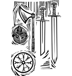 Viking Weapons vector image vector image