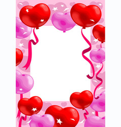 Colorful romantic greeting card vector