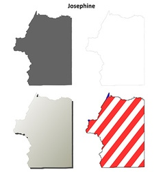 Josephine Map Icon Set vector image vector image