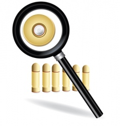 Magnifying and bullet vector