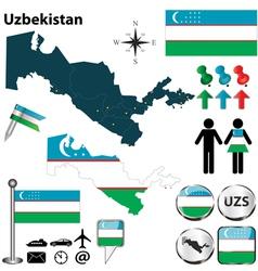 Map of uzbekistan vector