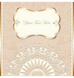 Romantic vintage border vector image