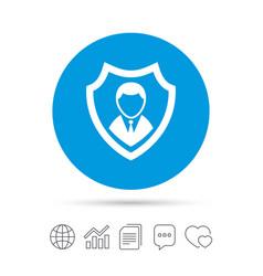 Security agency icon shield protection symbol vector