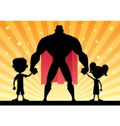 Super Dad vector image vector image