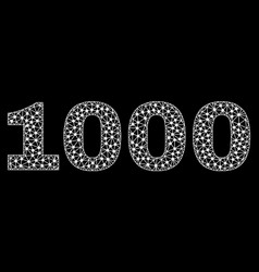 1000 text in polygonal mesh style vector image