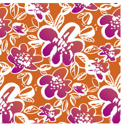 abstract bright summer flower seamless pattern vector image