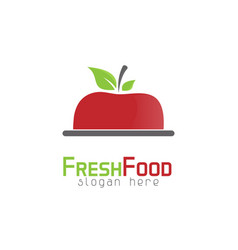 Apple food logo vector