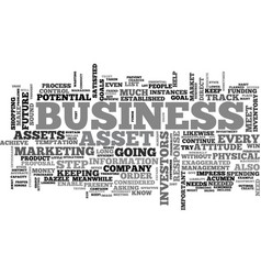 Asset and your business text word cloud concept vector