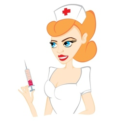 Attractive nurse vector image