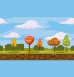 autumn landscape trees and fall leaves similar vector image