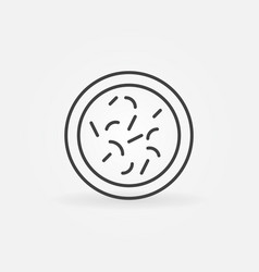 Bacteria round line icon or design element vector