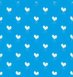 balloons pattern seamless blue vector image