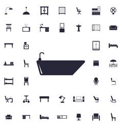 Bath icon vector