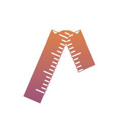 Broken ruler icon vector
