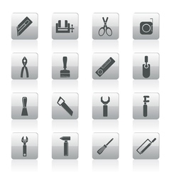 Building and construction tools icons vector